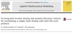 مقاله ترجمه شده قراردادهای تسهیم بر درآمد و تخفیف برای هماهنگی یک زنجیره تامین با عمر کوتاه محصولات
