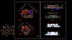 دانلود نقشه معماری اتوکد ویلایی دوبلکس